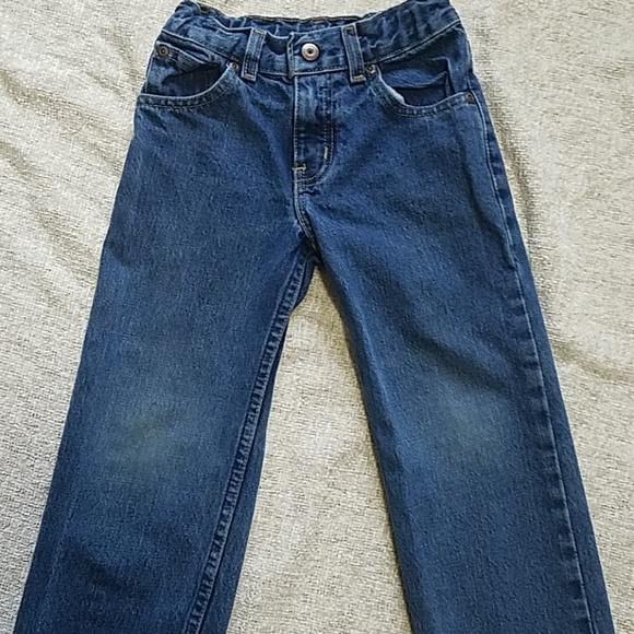 Boy's Faded Glory blue Jean's 4 w/grass stain